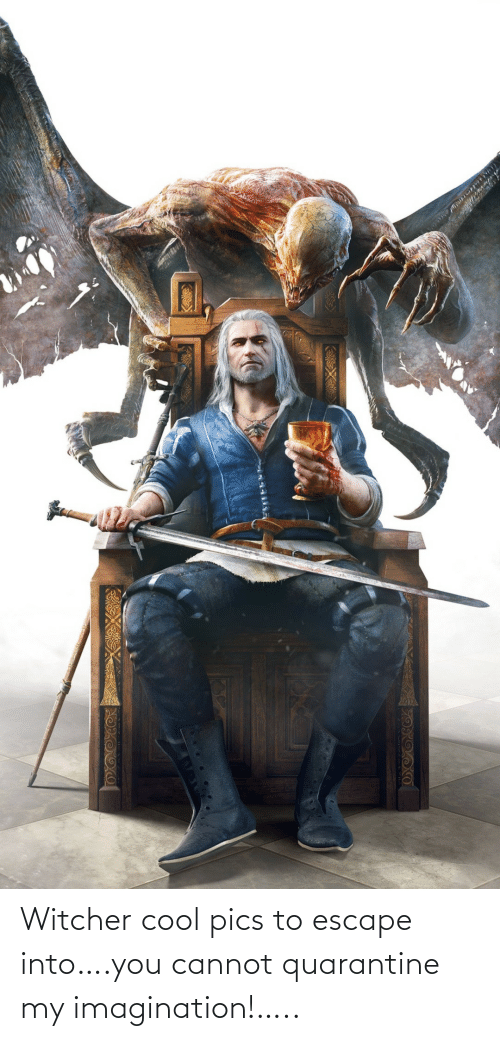 Cool, Witcher, and Quarantine: Witcher cool pics to escape into….you cannot quarantine my imagination!…..