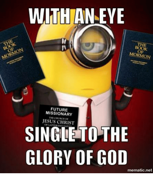 WITH AN EYE THE MORMON MISSIONARY CHURCH JESUS CHRIST
