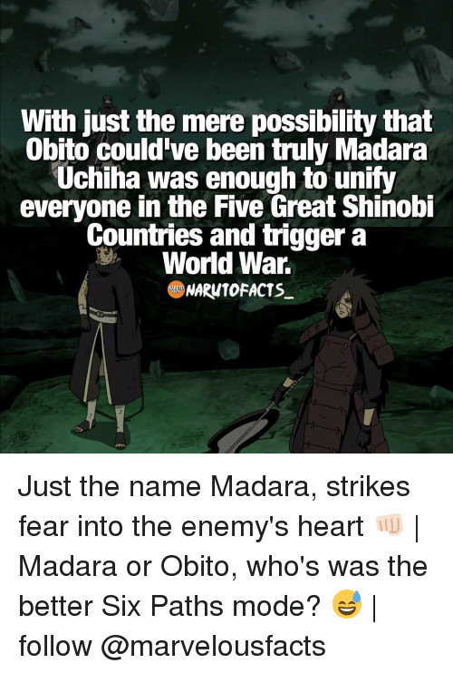 With Just the Mere Possibility That Obito Could've Been