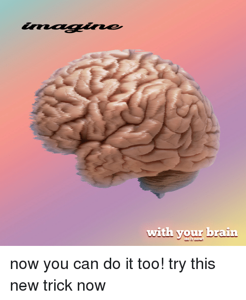 Brain, Can, and New: with your brain  do it now! now you can do it too! try this new trick now