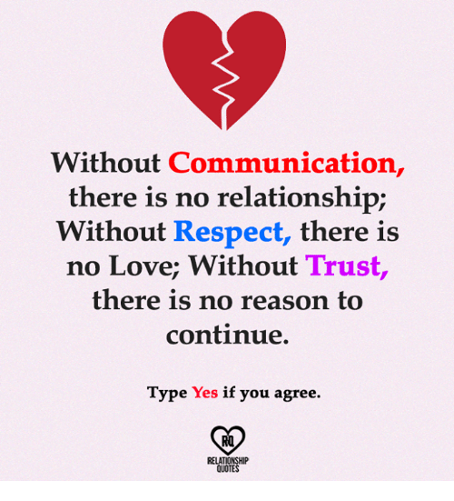 Without Communication There Is No Relationship Without ...