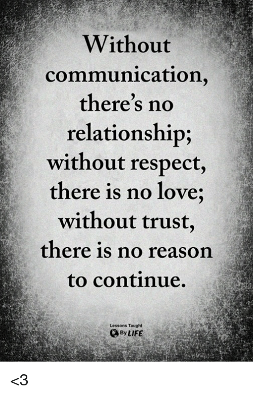 Relationship without love