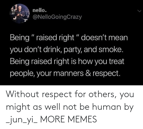 Dank, Memes, and Respect: Without respect for others, you might as well not be human by _jun_yi_ MORE MEMES