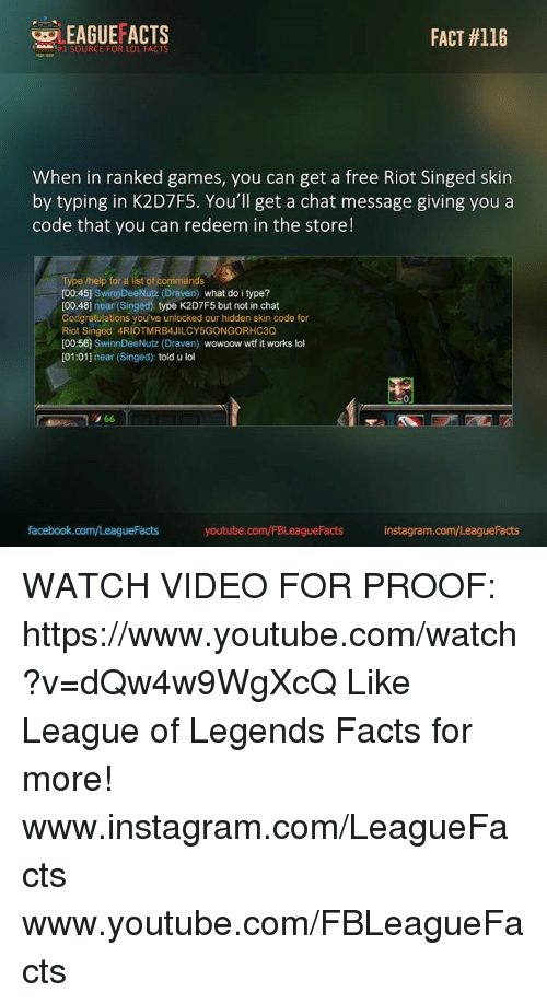 WLEAGUEFACTS FACT #116 #1 SOURCE FOR LOL FACTS When in Ranked Games
