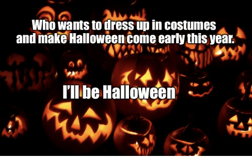 halloween dress and make wno wants to dress up in costumes and make