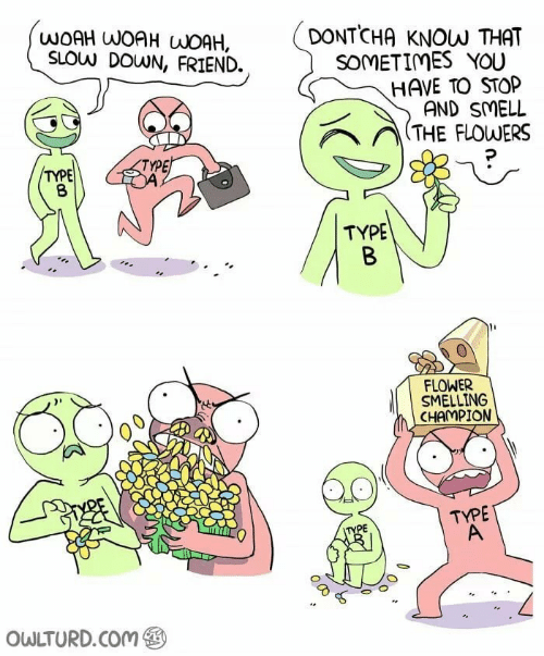 Smell, Flower, and Flowers: WOAH WOAH WOAH,  SLOW DOWN, FRIEND.  DONTCHA KNOW THAT  SOMETIMES YOU  HAVE TO STOP  AND SMELL  / THE FLOWERS  TYPE  TYPE  TYPE  FLOWER  SMELLING  CHAMPION  TYPE  PE  OWLTURD.Com