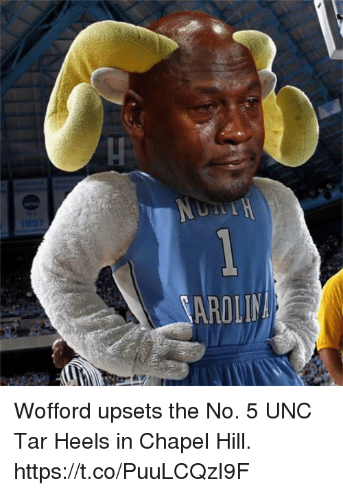 Unc, Heels, and Tar: Wofford upsets the No. 5 UNC Tar Heels in Chapel Hill. https://t.co/PuuLCQzI9F