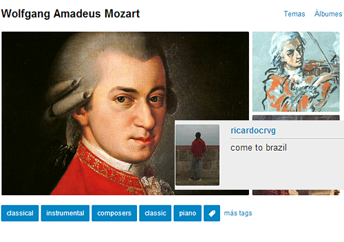Brazil, Mozart, and Piano: Wolfgang Amadeus Mozart  Temas Albumes  ricardocrvg  come to brazil  classical instrumental composers classic piano  más tags