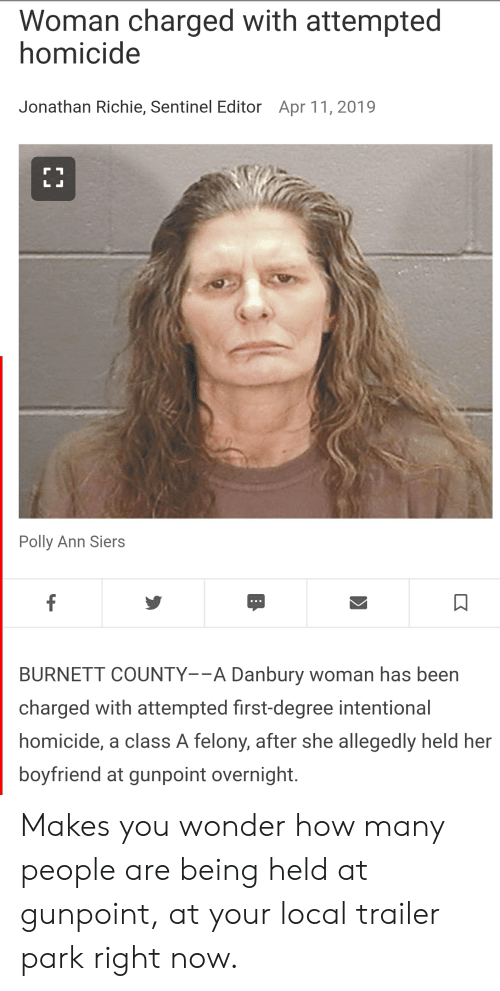 Woman Charged With Attempted Homicide Jonathan Richie Sentinel