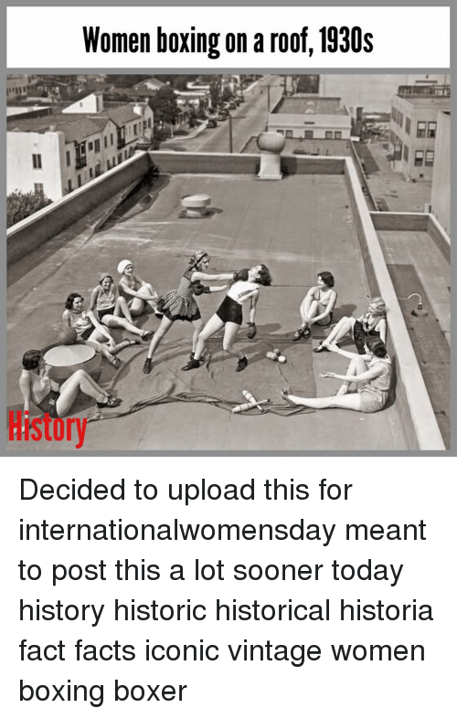roof on Women boxing