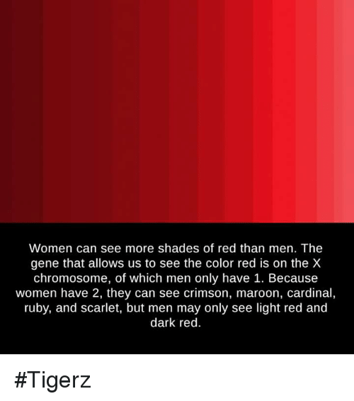 women can see more shades of red than men the gene that allows us to