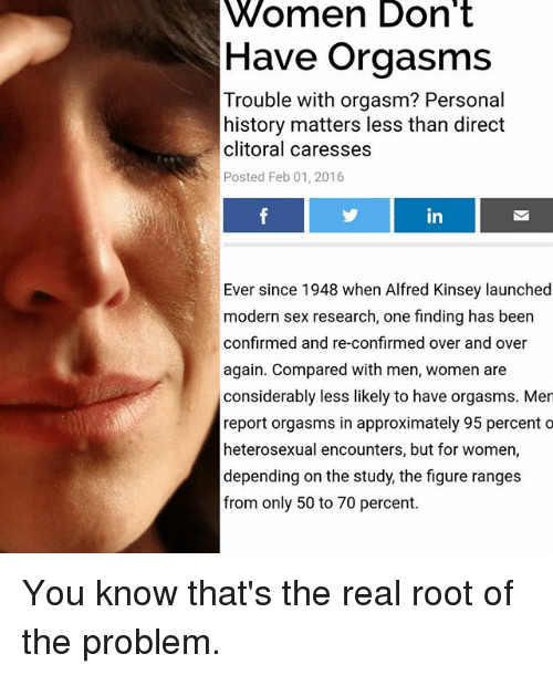 I cannot have clitoris orgasm