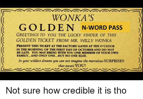 graphic relating to Wonka Golden Ticket Printable called WONKAS GOLDEN N-Phrase Go GREETINGS In direction of Oneself THE Privileged FINDER