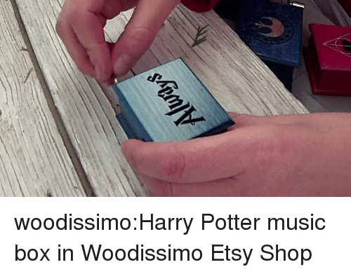 Harry Potter, Music, and Tumblr: woodissimo:Harry Potter music box in Woodissimo Etsy Shop