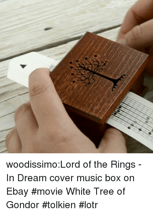 eBay, Music, and Tumblr: woodissimo:Lord of the Rings - In Dream cover music box on Ebay #movie White Tree of Gondor #tolkien #lotr