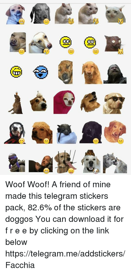 Woof Woof! A Friend of Mine Made This Telegram Stickers Pack