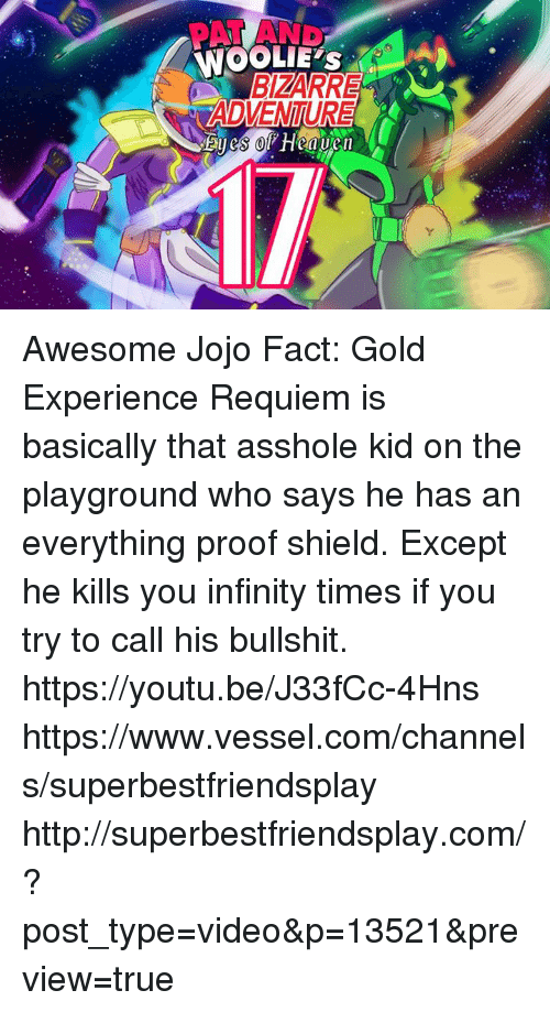 IT'S NO USE ABBACCHIO! NOT EVEN GOLD EXPERIENCE REQUIEM HAS a CHANCE