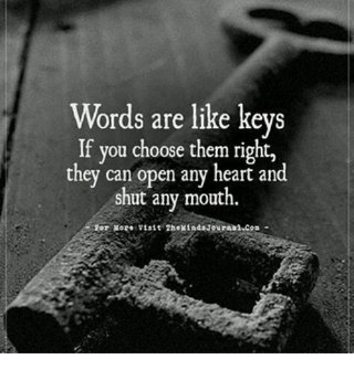 Relatively Words Are Like Keys if You Choose Them Right They Can Open Any  UX28