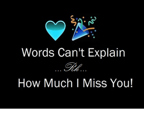 Words Cant Explain How Much I Miss You Meme On Meme