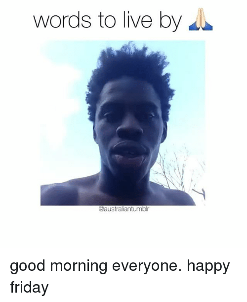 words to good morning