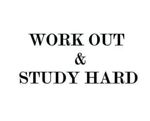 Work, Study, and Work Out: WORK OUT  STUDY HARI