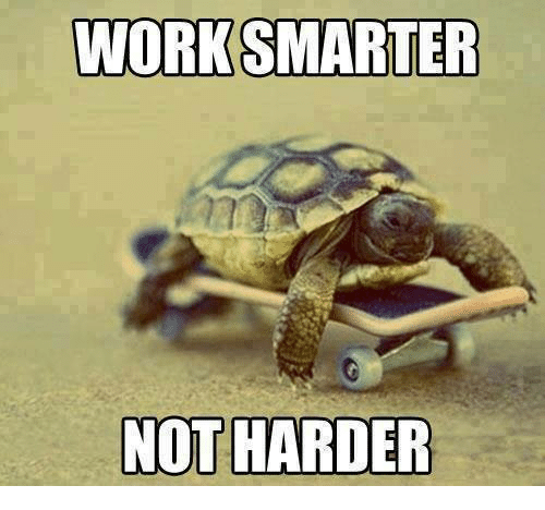 Image result for working smarter funny