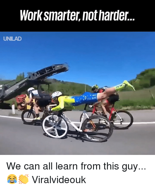 Dank, Work, and 🤖: Work smarter, not harder..  UNILAD We can all learn from this guy... 😂👏  Viralvideouk