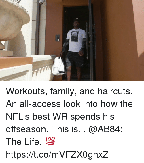 Family, Life, and Memes: Workouts, family, and haircuts. An all-access look into how the NFL's best WR spends his offseason.  This is... @AB84: The Life. 💯 https://t.co/mVFZX0ghxZ