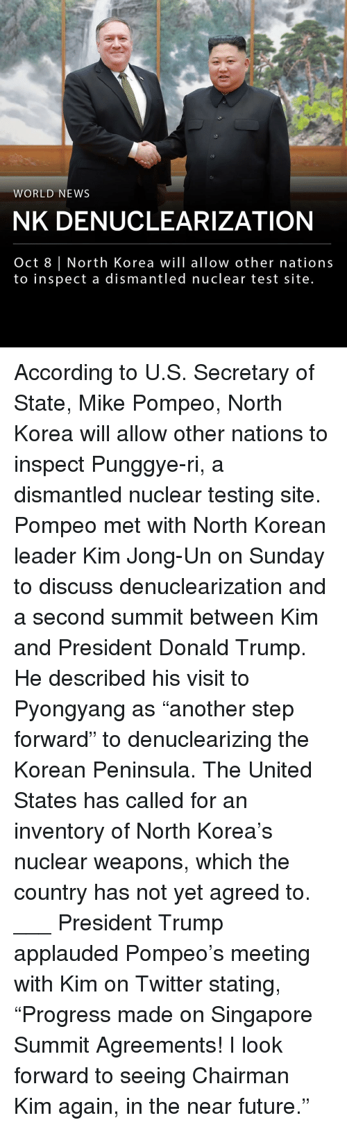 """Donald Trump, Future, and Kim Jong-Un: WORLD NEWS  NK DENUCLEARIZATION  Oct 8 