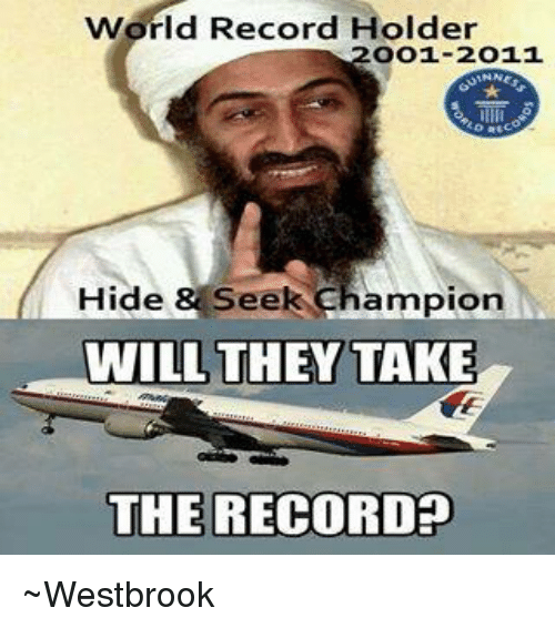 Record and Chinaball: World Record Holder  oo1-2o11  Hide & Seek  Champion  WILL THEY TAKE  THE RECORDED ~Westbrook
