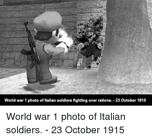 World War 1 Photo of Italian Soldiers Fighting Over Rations