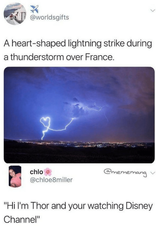 Disney Channel And France Worldsgifts A Heart Shaped Lightning Strike