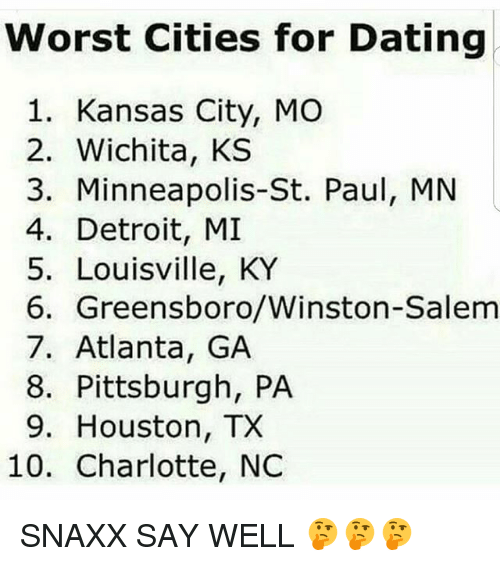 Wichita ks worst dating city