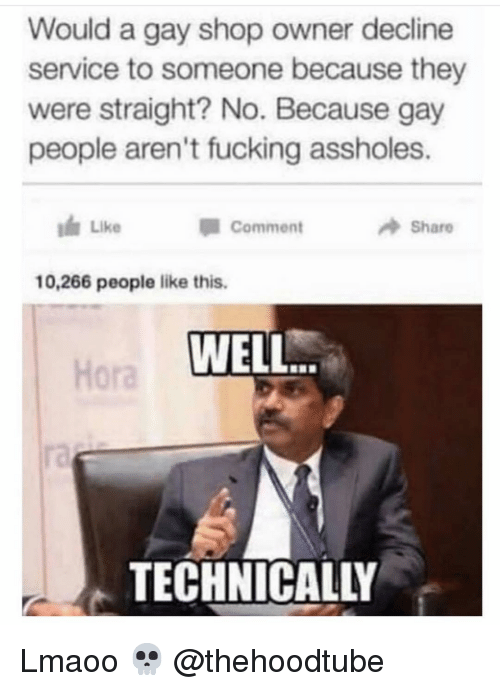 They were straight