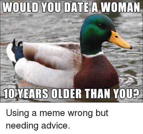 Dating someone ten years older than you