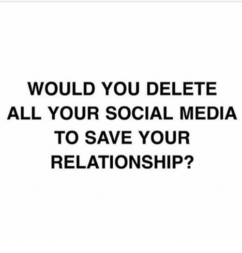 to save a relationship