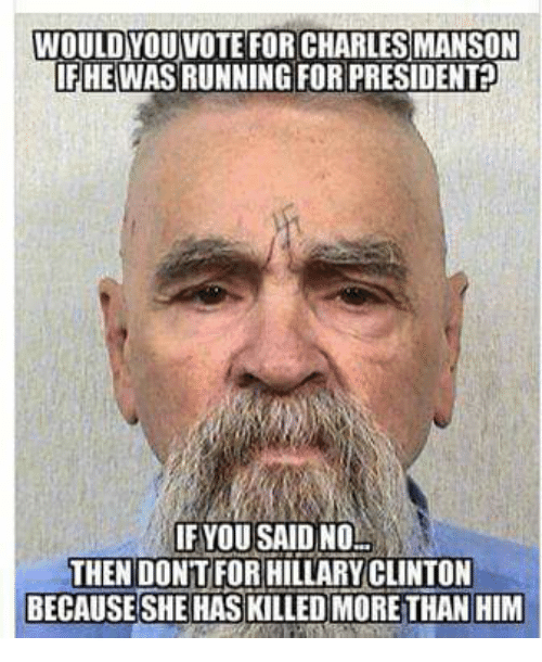 would youvote for charles manson if he wasrunning for president 21440574 ✅ 25 best memes about charles manson charles manson memes