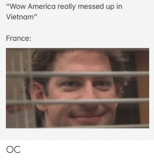 """America, Wow, and France: """"Wow America really messed up in  Vietnam""""  France: OC"""
