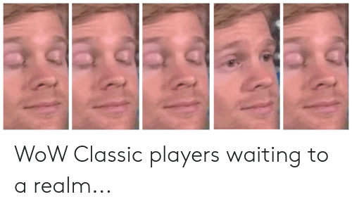 WoW Classic Players Waiting to a Realm   Reddit Meme on ME ME