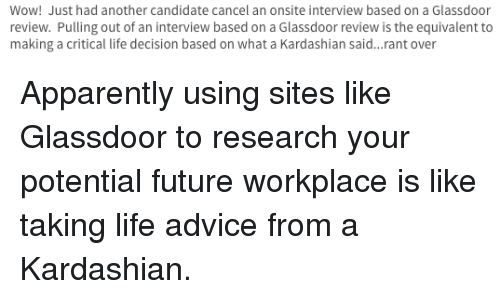 interview next advice apparently and future wow just had another candidate cancel an onsite
