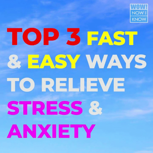 Memes, Wow, and Anxiety: WOW!  NOW I  KNOW  TOP 3 FAST  & EASY WAYS  TO RELIEVE  STRESs  ANXIETY