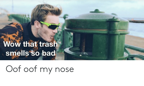 Wow That Tras Smells So Bad Oof Oof My Nose | Bad Meme on ME ME