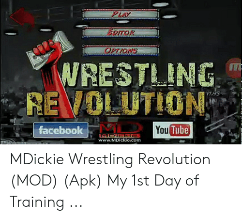 WRESTLING REVOLUTION Facebook Tube You wwwMDicRecom MDickie
