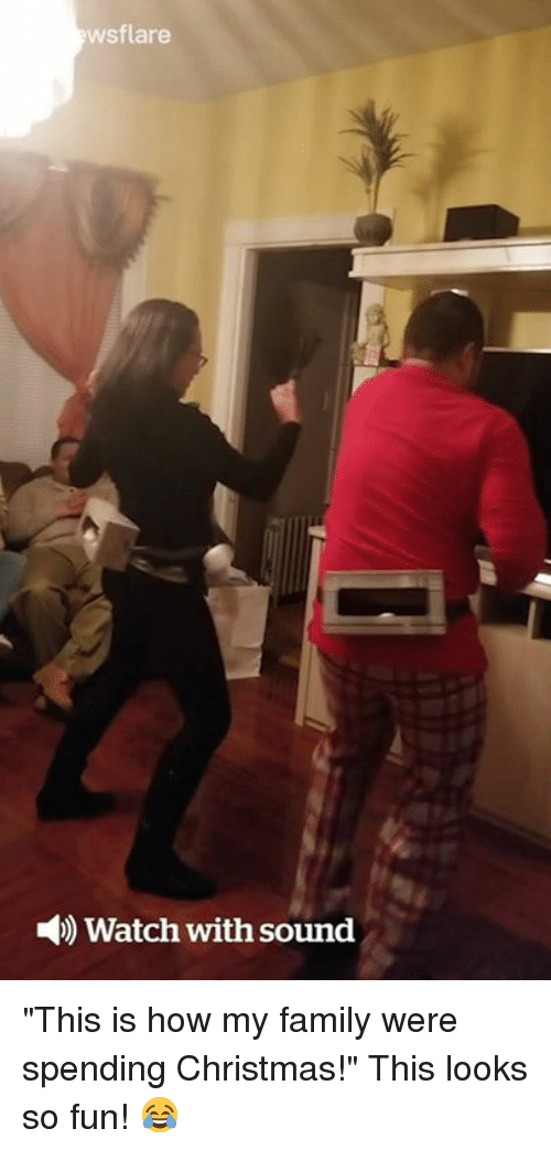 """Christmas, Family, and Watch: wsflare  )Watch with sound """"This is how my family were spending Christmas!"""" This looks so fun! 😂"""