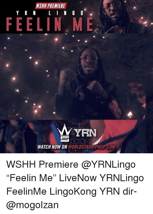 "Memes, Worldstarhiphop, and Wshh: WSHH PREMIERE  FEELIN,ME  WATCH NOW ON WORLDSTARHIPHOP COM WSHH Premiere @YRNLingo ""Feelin Me"" LiveNow YRNLingo FeelinMe LingoKong YRN dir- @mogolzan"
