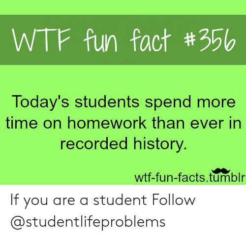 WTF Fun Fact #356 Today's Students Spend More Time on