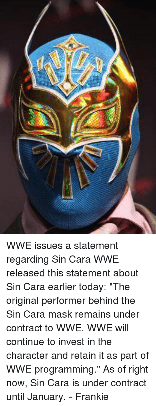 Wwe Issues A Statement Regarding Sin Cara Wwe Released This