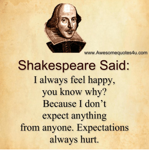 Shakespeare Quotes Happiness: WwwAwesomequotes4ucom Shakespeare Said I Always Feel Happy