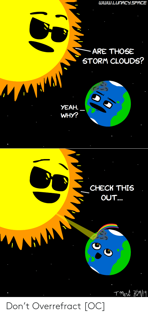 Yeah, Space, and Storm: www.CONACY.SPACE  ARE THOSE  STORM CLOUDS?  YEAH.  WHY?  CHECK THIS  OUT. Don't Overrefract [OC]