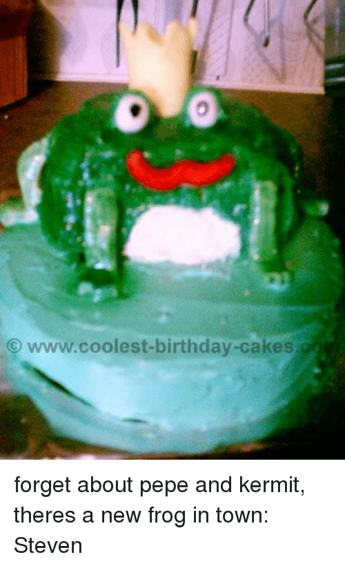 Sensational Wwwcoolest Birthday Cakes Forget About Pepe And Kermit Theres A Funny Birthday Cards Online Sheoxdamsfinfo